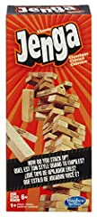Pull out a block without crashing the stack to win at Jenga Includes 54 Jenga hardwood blocks, stacking sleeve with instructions Simple, solid, and timeless It takes skill, strategy, and luck. Challenge yourself or play with friends Win by being the ...