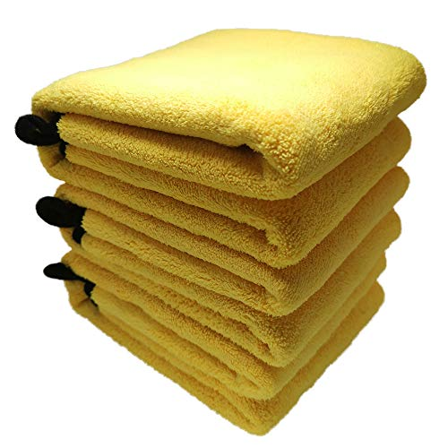 WARMAGIA Best Microfiber Towels for Cars|Premium Car Drying Towels|Cleaning Cloth Double Fleece Microfiber Car Grooming Towels-3 Pack Towels|Multi-Purpose - Clean, Dust, Polish, Absorb (15x24 (3pcs))