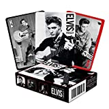 AQUARIUS Elvis Playing Cards - Elvis Presley Themed Deck of Cards for Your Favorite Card Games - Officially Licensed Elvis Merchandise & Collectibles - Poker Size with Linen Finish