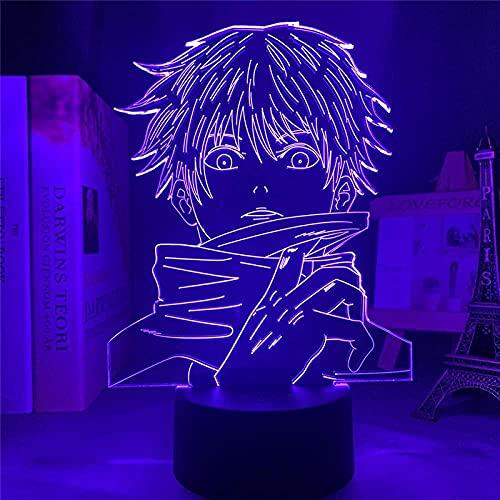 Lámpara de ilusión 3d noche luz LED anime goku goku jiu-jitsu renacimiento creativo diseño mesa lámpara niño cumpleaños regalo dormitorio decoración mesa de mesa