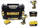 DeWalt DCF 887 Brushless - Trapano avvitatore a percussione a batteria da 18 V, con esagono incassato da 1/4' + 1 batteria da 5 Ah in valigetta