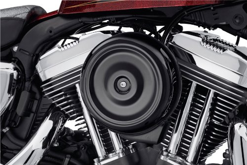 GZM Deckel schwarz abgerundet Bobber für Luftfilter Screamin Eagle Stage I Harley Davidson