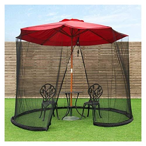 REWD Pantalla de Cubierta Neta Paraguas, Pantalla de Mesa de Mesa de jardín Exterior Parasol Cubierta de mosquitera, con Cremallera - Excluyendo Paraguas y Base (Color : Default)