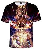 HAOSHENG Hombres My Hero Academia Camiseta Casual Anime Printing tee Tops de Manga Corta Suelta para y Mujeres(M)