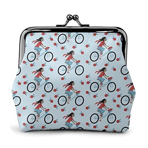 Portafogli in pelle per bicicletta ragazza modello bacio-blocco fibbia cambio borsa portafogli tripla telaio squisita
