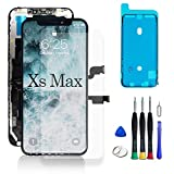 WYNT for iPhone Xs Max Screen Replacement OLED Screen with Complete Repair Tools Screen Protecter Waterproof Adhesive Xs Max 6.5inch Touch Screen Black (Model A1921, A2101, A2102, A2103, A2104)