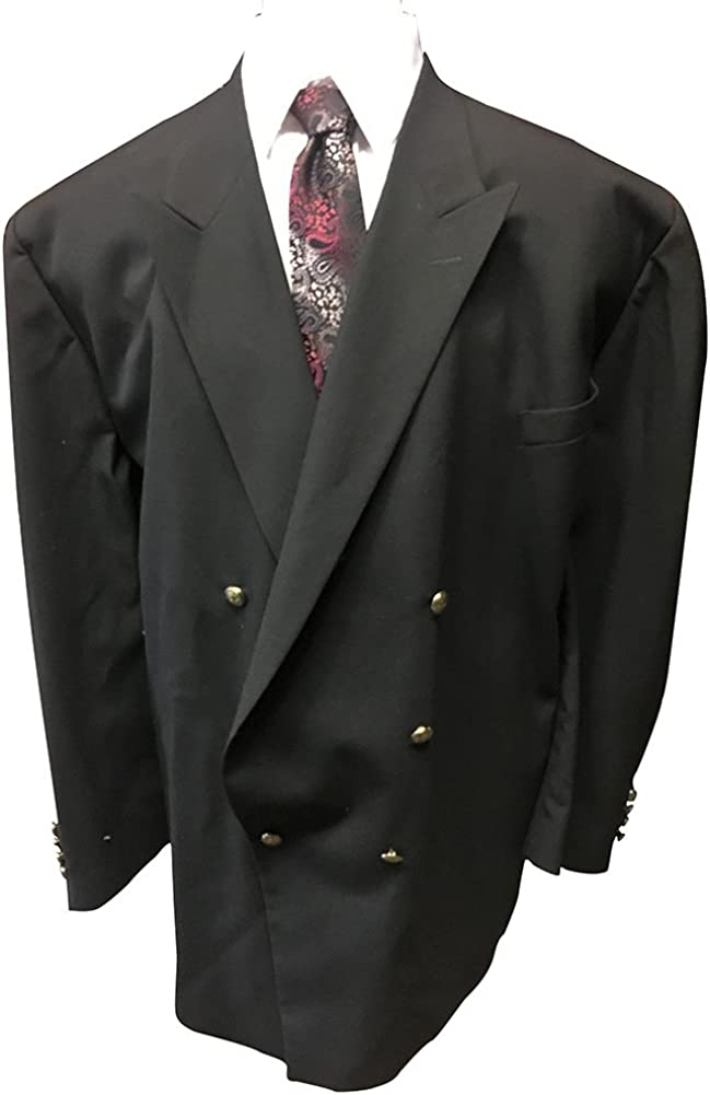 Big and Tall Black Double Breasted Blazer Made in USA