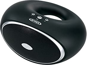 Jensen SMPS-625 Portable Bluetooth Rechargeable Speaker with Hands-Free Speakerphone and USB Charging with Cable