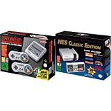 Two generations of Nintendo Gaming with the NES Classic Mini from the 80s and SNES Classic Mini from the 90s. Mini replicas of the original retro consoles have the original look and feel, only smaller, sleeker, and pre-loaded with games. No more need...