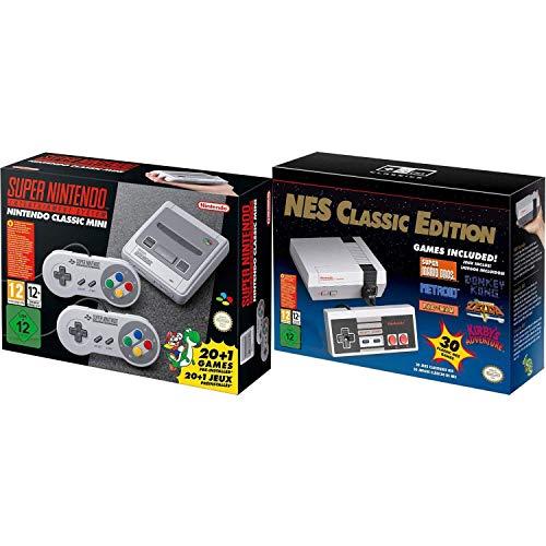 SNES and NES Nintendo Entertainment System Classic Bundle Region Free (Renewed)