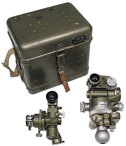 Russischer Theodolit PAB-2A Armee Winkelmessinstrument Gebraucht Deko (Oliv)