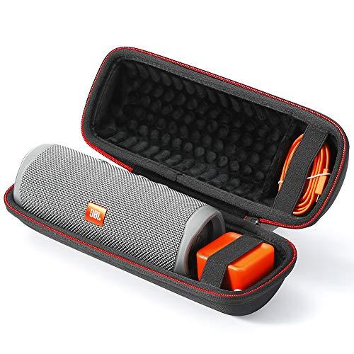 Estuche rígido para Altavoz portátil inalámbrico Bluetooth JBL Flip 5, Bolsa de Almacenamiento de Viaje - Negro (Forro Negro)