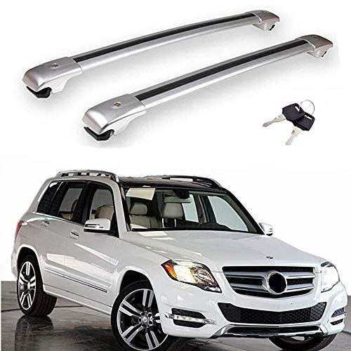 MotorFansClub Cross Bars Fit for Compatible with Mercedes Benz GLK X204 GLK350 2009-2015 Crossbar Luggage Rack Top Roof Rack