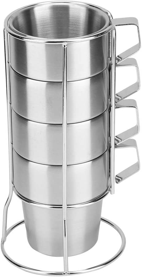 Special price for a limited time Jinyank Coffee Cup Stainless Department store Steel Durable H for Holder with
