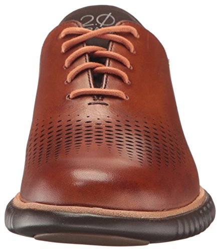 Cole Haan Men's 2.Zerogrand Laser Perforated Wingtip Oxfords, British Tan/Java, 10 D(M) US