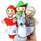 Xiton Rotkäppchen Fingerpuppe Spielzeug Lernspielzeug Storytelling Puppe für Kinder 4PCS / Set