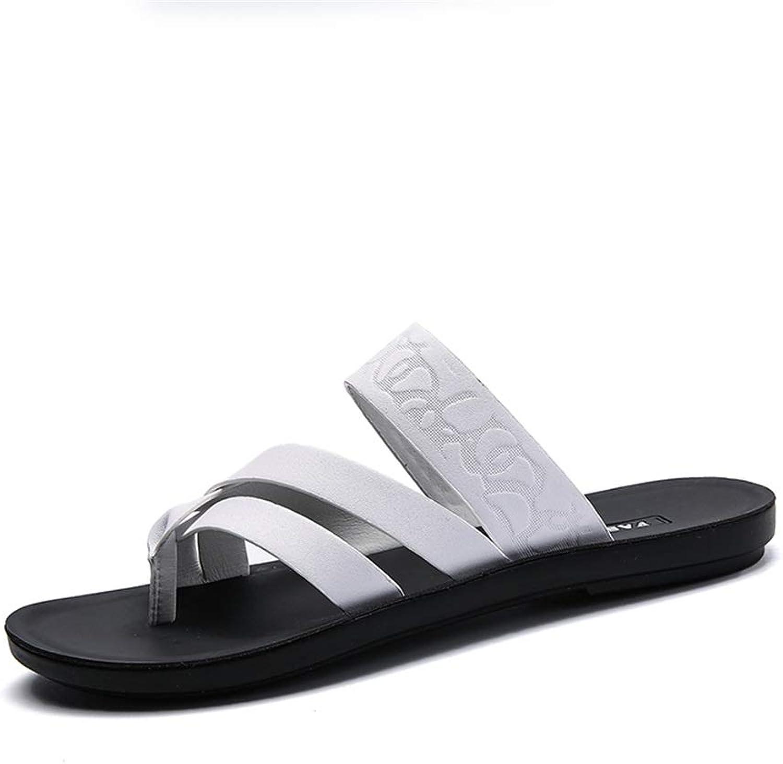 Flip flops Men's Slippers Comfortable Slippers Fashion Sandals Casual Nature Comfortable Soft Solid color Flip Flops flip flops (color   White, Size   7 UK)