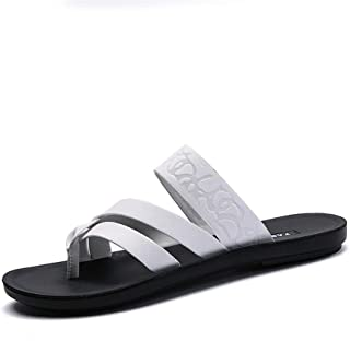 Xujw-shoes, Men's Fashion Slippers Leisure Personality Comfortable Soft Pure Color Flip-Flops