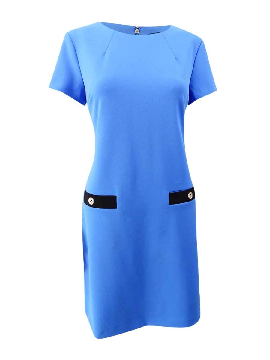Available at Amazon: Tommy Hilfiger Women's Faux-Pocket Shift Dress