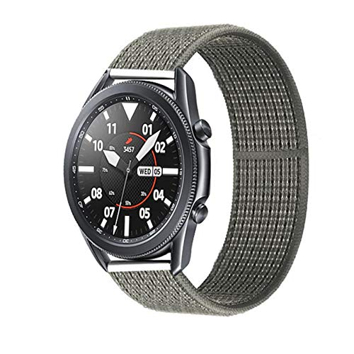LRJBFC 20 22mm Watch Band for Gear S3 Frontier Strap Galaxy Watch 3 45mm 41mm 46 Active 2 44mm 40mm Nylon para Huawei Watch GT2E / 2 Strap 42 (Band Color : Sprucc Fog 34, Band Width : 20mm)