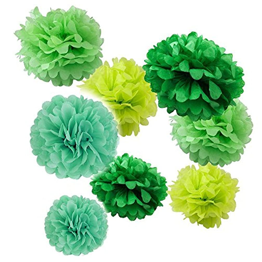 Fascola Set of 8 (Assorted Green Color Pack) 8