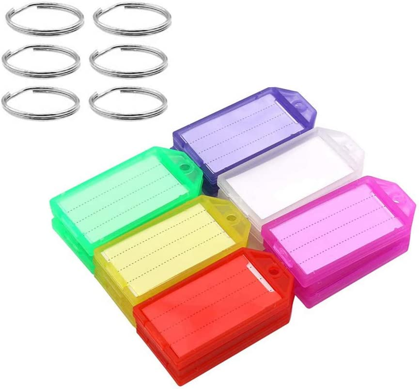 20 Pack Challenge the lowest price of Japan Plastic High order Key Tags with Ring Rings a Split Label