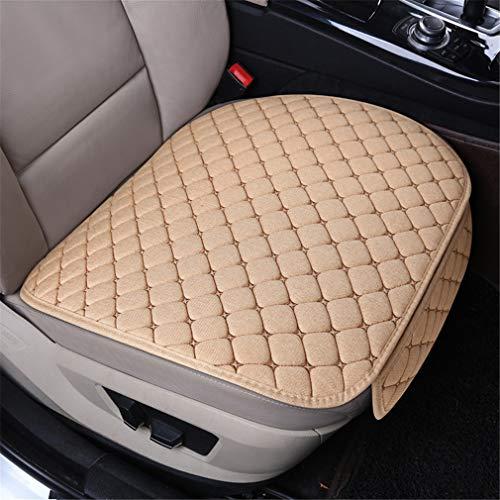 Preisvergleich Produktbild Universal Flachs Auto Sitzauflage Sitzkissen Sitzbezüge Sitzauflagen Vordersitzbezüge Rücksitzbezüge (Beige, 1 stück Vordersitzbe)