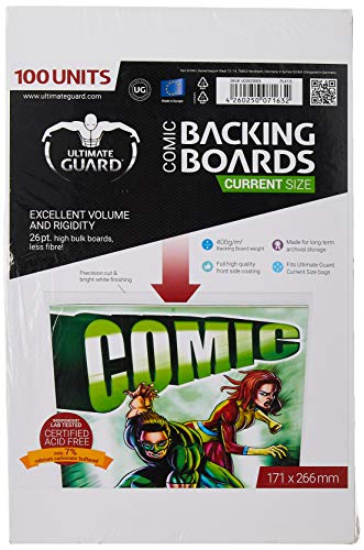 Ultimate Guard UGD020005 - Comic Backing Boards, Current Size, 100 Stück