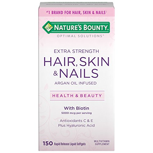 Nature's Bounty Optimal Solutions Extra Strength Hair, Skin & Nails Softgels, 150 Count by Nature's Bounty