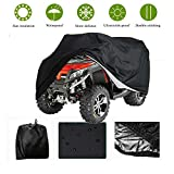 Waterproof ATV Cover Quad Bike Cover Vehicle Cover,Heavy Duty Outdoor Waterproof,Dustproof,Durable Tearproof Storage Protect from Snow,Rain,Dust or Sun,Black
