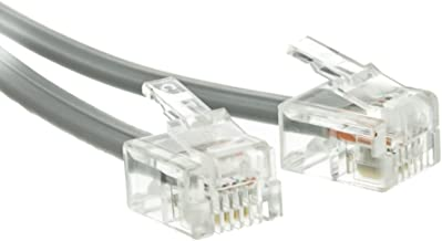 $24 » Sponsored Ad - ACL 50 Feet RJ11 6P/4C Reverse Telephone Cord (Voice), Silver Satin, 2 Pack