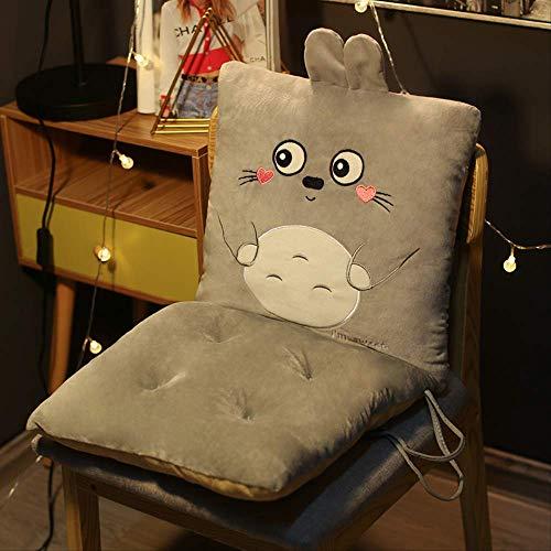 nobrand Kissen Rückenlehne EIN Sitzkissen Hintern Kissen Büro Sitzende Nicht Müde Artefakt Bürostuhl Four Seasons Universal 43*43cm Grauer Totoro