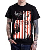 Photo de Rockstar REO Lamb of God Pure American Metal Flag T-Shirt Black-M par