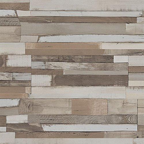 4 Pack of Dumapan SMP Shipwreck Wood Effect Wall Panel - 3D Effect PVC  Bathroom / Kitchen Wall Panels
