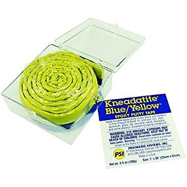 Kneadatite Blue/Yellow Epoxy Putty Tape 36   Green Stuff