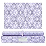 SCENTORINI Lavender Scented Drawer Liners, Scent Paper Liners for Drawers, Dresser Shelf, Linen Closet, Perfect for Kitchen, Bathroom, Vanity (6 Sheets)