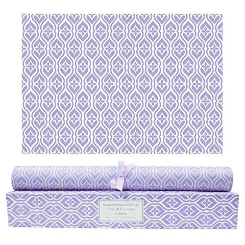 SCENTORINI Schrankpapier Lavendel Duft für Schubladen, Kommodenregal, Wäscheschrank und Kleiderschrank, 42cm x 58cm, 6 Blatt