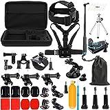 SHOOT Kit de Accesorios Deportes al Aire Libre Bundle para GoPro Hero 8 7 6 5 4 3+ 3 SJCAM SJ4000 SJ5000 SJ6000 Lightdow/Xiaomi Yi/WiMiUS/DBPOWER/Cámara de Acción APEMAN/Action Camera Campark