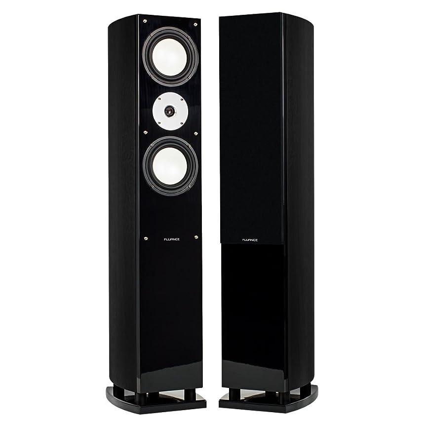 Fluance XL7FBK High Performance Three-Way Floorstanding Loudspeakers (Black Ash)