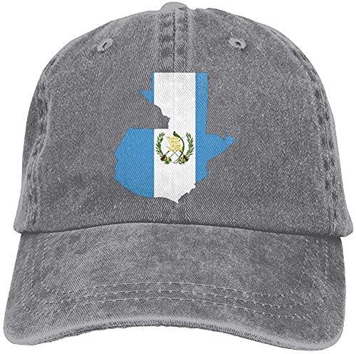 Alicoco Adultos Mapa de Guatemala Bandera Ajustable Casual Cool Gorra de béisbol Retro Sombrero de Vaquero...