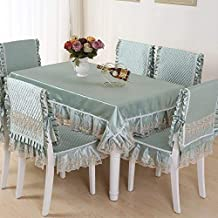 Royare Elegant Design Home Table Cloth Chair Cover Chair Cushion Set Dining Chair Cover lace Tablecloth Coffee Table Cloth...