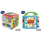 VTech - 183405 - Super Cube des découvertes &  Mon Premier imagier bilingue