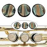 Kamenda 3 Piezas, Botones dedo de Trompeta, Tapa de Tornillo Tapa de Trompeta dedo de VáLvula, Accesorios para Trompeta Baja Musical, Coloridos