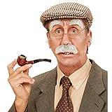 Amakando Alter Mann Bart Schnurrbart mit Augenbrauen grau buschiger Schnauzer Großvater Kunstbart...