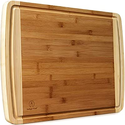 Extra Large Bamboo Cutting Board for Kitchen with Juice Groove