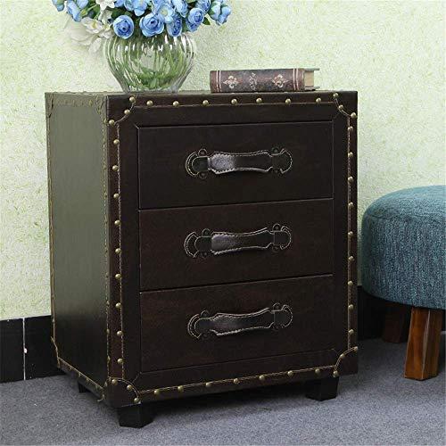 Soul heuvel nachtkastje zijkast tafel met drie lade nachtkastjes voor thuis kantoor woonkamer meubilair voor thuis, kantoor, DORM (kleur: bruin, maat: een maat)