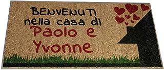 Zerbino Personalizzato da interno - Benvenuti nella casa di - in cocco naturale cm. 100x50x2 LOVEDOORMAT Marchio Registrat...