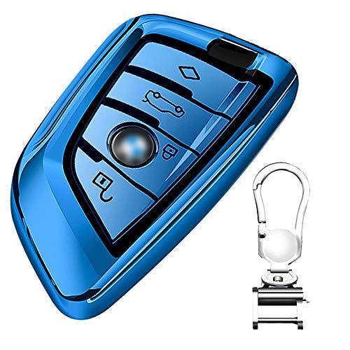 Funda de Silicona para Llave BMW – Cover Carcasa de TPU Cromo Suave para Keyless BMW Serie 1 3 5 7