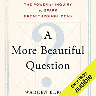 A More Beautiful Question audiobook cover art