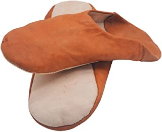 Genuine Leather Moroccan Slippers or Slippers Handmade by Marrakech Best Craftsmen - We recommend choosing 2 sizes more th...